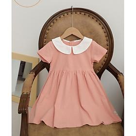 Váy Cho Bé Gái Dáng Xòe Vintage PINK DRESS Hồng San Hô Cho Bé Gái 1-10 Tuổi