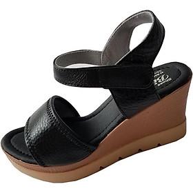 Giày Sandal Nữ Đế Xuồng BIGGBEN Da Bò Cao Cấp SDX11