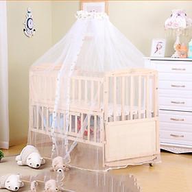 Giường cũi gỗ 2 tầng đa năng kích thước 120*65*90 cm tặng màn ( mùng ) cho bé