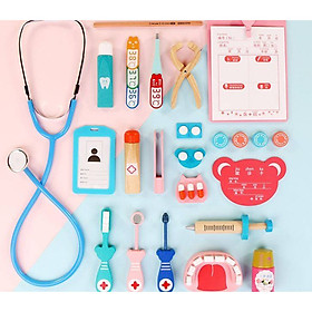 Đồ chơi bác sĩ gỗ cao câp, đồ chơi hướng nghiệp, nhập vai cho bé