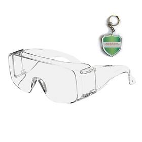 Kính chống bụi cao cấp, dùng ngoài kính cận 3M Tourguard 5 , chống tia UV , cao cấp chính hãng , kính trắng bảo hộ - tặng móc treo khóa mica