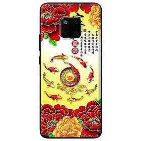 Ốp lưng in cho Huawei Mate 20 Pro mẫu Hoa Mẫu Đơn Đỏ - Hàng chính hãng