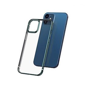 Ốp lưng Silicone dẽo trong suốt viền si màu Baseus Shining Case cho iPhone 12 mini / iPhone 12 / iPhone 12 Pro / iPhone 12 Promax_Hàng Nhập Khẩu