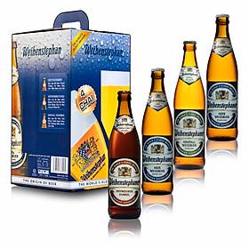 Combo 4 chai bia Đức Weihenstephan500 ml (3 Hefewweissbier + 1 Dunkel)