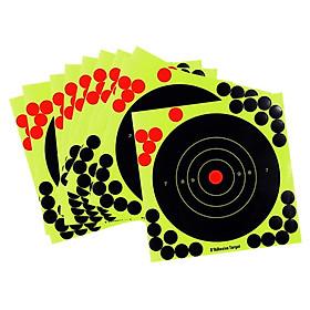 10 Pcs Splatter Reactive Self Adhesive Shooting Targets Gun  Pistol