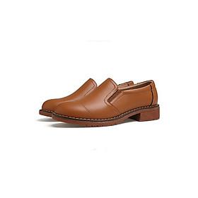 Giày oxford nữ da cao cấp - Màu bò