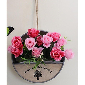 Giỏ hoa treo tường trang trí đẹp GHS 62481