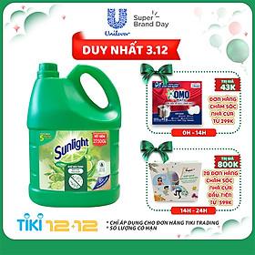 Nước Rửa Chén Khử Mùi Tanh Sunlight Matcha Trà Nhật Mới (3.6kg / Chai) - Mới