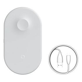 Đế Sạc Không Dây 2 In 1 Baseus Cho Apple Watch Và iPhone - Hàng Chính Hãng