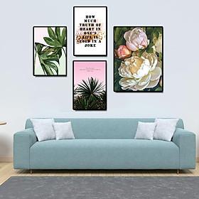 Tranh treo tường, tranh canvas TB11 bộ 4 tấm