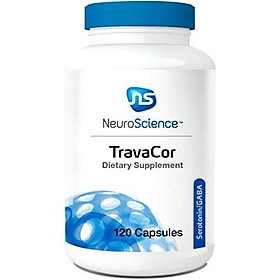 NeuroScience TravaCor - Mood and Calm Support Complex with 5-HTP and L-Theanine, Serotonin and GABA Neurotransmitter Supplement (120 Capsules)