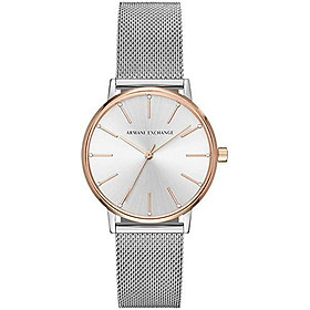 Armani Exchange Ladies Dress Stainless Steel Watch with Mesh Bracelet