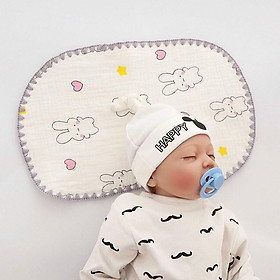 Gối xô in hình nhăn 10 lớp cho trẻ sơ sinh(20x40cm)