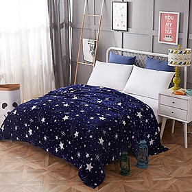 Sleeping Blanket Star Printing Keeping Warm Soft Cover