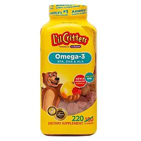 Kẹo dẻo L'il Critters bổ sung Omega-3 EPA, DHA & ALA cho trẻ (220 Viên) - Nhập khẩu Mỹ