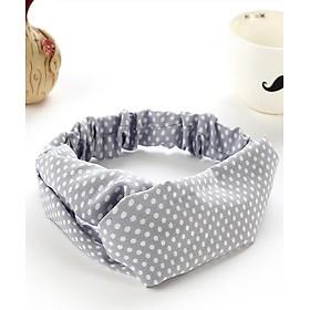 Băng đô turban vải kiểu chấm bi tiểu thư