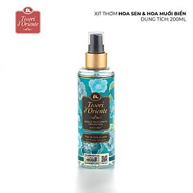 Xịt thơm dưỡng ẩm cơ thể (Body mist) Tesori d'Oriente Hoa sen và hoa muối biển 200ml