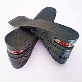 Độn giày silicon đệm khí êm chân 3 lớp, lót giày cả bàn tăng chiều cao 7cm siêu tiện ích, mã DG3L - màu ĐEN