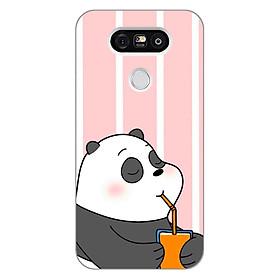 Ốp lưng dẻo Nettacase cho điện thoại LG G5 _0399 PANDA06 - Hàng Chính Hãng