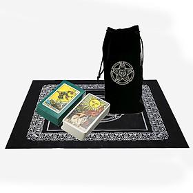 Combo Bộ Bài Tarot Bói Smith Waite Tarot Cao Cấp và Túi Nhung Đựng Tarot và Khăn Trải Bàn Tarot