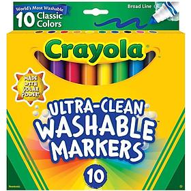 BÚT LÔNG Crayola 10 CÂY TẨY RỬA ĐƯỢC