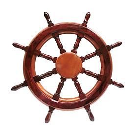 Vô lăng tàu gỗ trang trí Ø60cm (không đồng hồ)