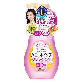 Bọt Rửa Mặt & Tẩy Trang Dạng Bọt 2 Trong 1 Kosé Cosmeport Softymo Cleansing Foam Honey Whip (200ml)