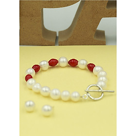 Bộ trang sức ngọc trai 2 món gồm Vòng tay và Bông tai thương hiệu Opal - TB5