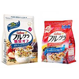 Set 02 túi ngũ cốc trái cây ăn liền Calbee (mix màu) - Nhập khẩu Nhật Bản