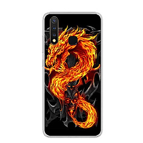 Ốp lưng dẻo cho điện thoại Vivo Y19 - 0218 FIREDRAGON - Hàng Chính Hãng