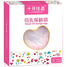 Túi Trữ Sữa Mẹ Shiyujiejing 200ml (2 Hộp 60 Túi + 10 Túi)