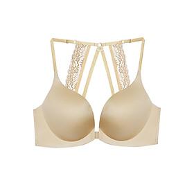 Hình đại diện sản phẩm Áo Nâng Ngực Cài Trước Front Close Fall In Lace Push Up Bra Viviane AN1217_11 - Kem