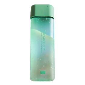 Square Portable Drop Resistant Plastic Water Bottle Student Scrub Leakproof Kettle