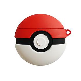 Hộp Đựng Bảo Vệ Tai Nghe Bluetooth Không Dây Hình Quả Bóng Pokemon Kèm Móc Treo Cho Airpod 1/2