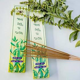 HƯƠNG, nhang hữu cơ từ lá cây, dòng nhang CỘNG ĐỒNG, thương hiệu Mộc Hương, không hóa chất, hộp 100 cây