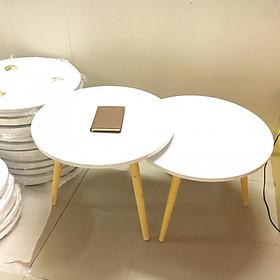 Pk - Cặp bàn tròn gỗ sofa phòng khách 60-60, bàn trà, bàn cafe, coffee, cà phê, bàn salon, sopha