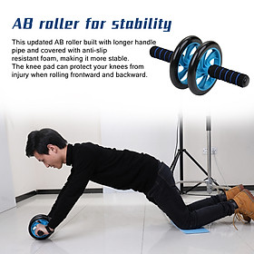 AB Wheel Roller Kit Abdominal Press Wheel  Jump Rope and Knee Pad Portable Equipment for Home Exercise Muscle Strength-3