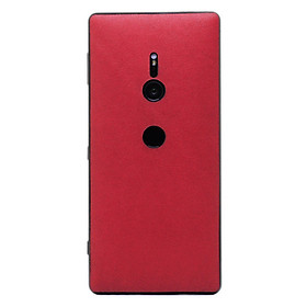 Ốp da dán cho Sony Xperia XZ2 làm từ da bò thật cao cấp, sang trọng và nhiều hữu ích màu đỏ mịn - Chính hãng Davis