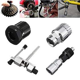 Bộ dụng cụ sửa chữa xe đạp - Dụng cụ tháo trục giữa, cắt sên, tháo líp xe đạp ( 4 chi tiết)