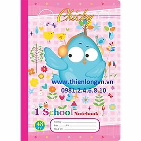 Vở 4 ô ly Chicky - 48 trang; Klong 015 bìa hồng