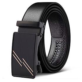 Thắt lưng nam, dây nịt nam cao cấp khóa tự động dây da bền đẹp TOPEE TPL-025