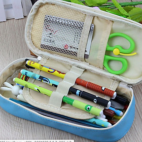 Hộp đựng bút TOTORO siêu dễ thương - Hộp đựng đồ dùng học tập nhiều ngăn tiện dụng (Giao màu ngẫu nhiên)