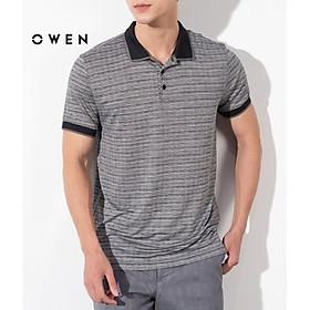 OWEN - Áo Polo nam ngắn tay Owen màu đen 22522 - Áo thun có cổ nam