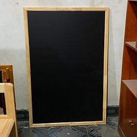 bảng menu đen khung gỗ 80cm x 120cm