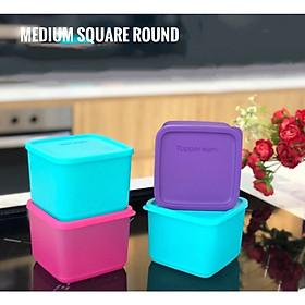 Bộ 4 hộp trữ mát Medium Square Round Tupperware 1L (màu mới)