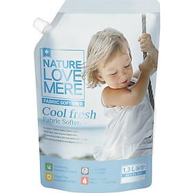 Nước Xả Dịu Nhẹ Cho Bé Nature Love Mere Cool Fresh Túi 1.3L