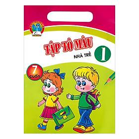 Bộ Túi Tập Tô Màu Nhà Trẻ Tập 1 (7 Cuốn)