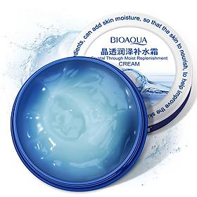BIOAQUA 38g Crystal Through Moist Replenishment Cream Hyaluronic Acid Moisturizing Filling Water Skin Care