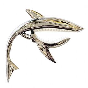 Capo Đàn Guitar / Ukulele Cá Mập - Chrome Silver