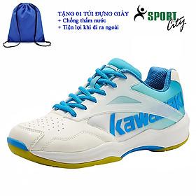 Giày cầu lông kawasaki K171 chính hãng dành cho cả nam và nữ, chuyên nghiệp chống lật cổ chân-tặng túi thể thao mang giày